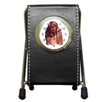 Irish Setter ^ Pen Holder Desk Clock