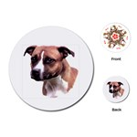 Staffie Brown ^ Playing Cards (Round)