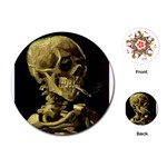 Skull With Cigarette ^ Playing Cards (Round)