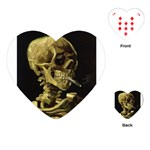 Skull With Cigarette ^ Playing Cards (Heart)