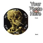 Skull With Cigarette ^ Playing Cards 54 (Round)