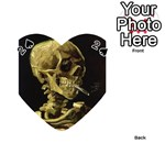 Skull With Cigarette ^ Playing Cards 54 (Heart)