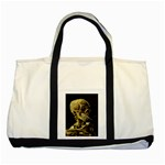 Skull With Cigarette ^ Two Tone Tote Bag