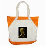 Skull With Cigarette ^ Accent Tote Bag