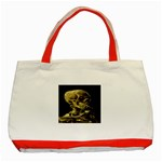 Skull With Cigarette ^ Classic Tote Bag (Red)