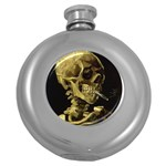Skull With Cigarette ^ Hip Flask (5 oz)