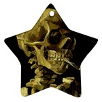 Skull With Cigarette ^ Star Ornament (Two Sides)
