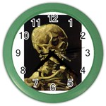 Skull With Cigarette ^ Color Wall Clock