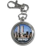 TWIN TOWERS 911 World Trade Center New York Key Chain Watch