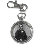 ABRAHAM LINCOLN President U.S. Flag Statue Key Chain Watch