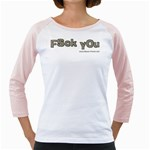 Fsck You! Girly Raglan