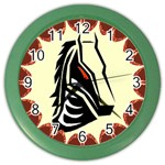 Horse head Color Wall Clock