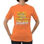 Best Thing Since jQuery Women s Dark T-Shirt