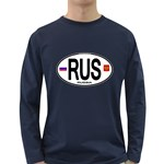 RUS - Russia Euro Oval Long Sleeve Dark T-Shirt