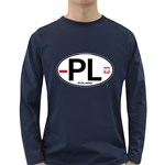 Poland Euro Oval - PL Long Sleeve Dark T-Shirt