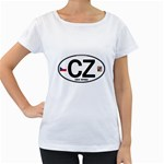 CZ - Czech Republic Maternity White T-Shirt