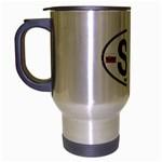 SK - Slovakia Euro Oval Travel Mug (Silver Gray)