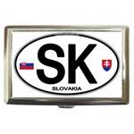 SK - Slovakia Euro Oval Cigarette Money Case