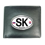 SK - Slovakia Euro Oval Wallet