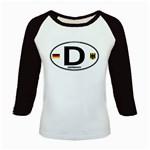 D - Germany Euro Oval Kids Baseball Jersey