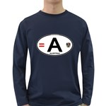 A - Austria Euro Oval Long Sleeve Dark T-Shirt