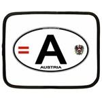 A - Austria Euro Oval Netbook Case (XL)