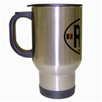 RO - Romania Euro Oval Travel Mug (Silver Gray)