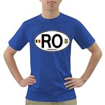 RO - Romania Euro Oval Dark T-Shirt