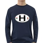 H - Hungary Euro Oval Long Sleeve Dark T-Shirt