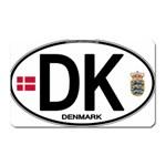 DK - Denmark Euro Oval Magnet (Rectangular)