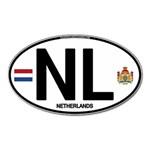NL - Netherlands Euro Oval Magnet (Oval)