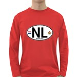 NL - Netherlands Euro Oval Long Sleeve Dark T-Shirt