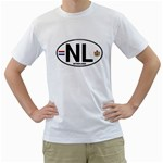 NL - Netherlands Euro Oval White T-Shirt