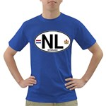 NL - Netherlands Euro Oval Dark T-Shirt