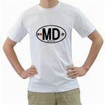 MD - Moldova Euro Oval White T-Shirt