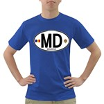 MD - Moldova Euro Oval Dark T-Shirt