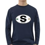S - Sweden Euro Oval Long Sleeve Dark T-Shirt