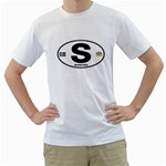 S - Sweden Euro Oval White T-Shirt