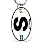S - Sweden Euro Oval Dog Tag (One Side)