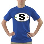 S - Sweden Euro Oval Dark T-Shirt