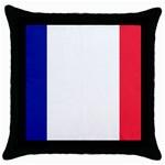 French Flag Throw Pillow Case (Black)