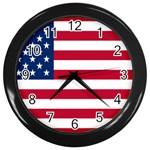 American Flag Wall Clock (Black)