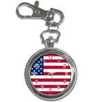 American Flag Key Chain Watch