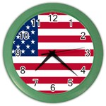American Flag Color Wall Clock
