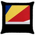 Seychellois Flag Throw Pillow Case (Black)