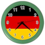 German Flag Color Wall Clock