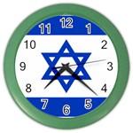 Israeli Flag Color Wall Clock