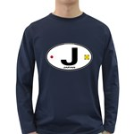 J - Japan Euro Oval Long Sleeve Dark T-Shirt