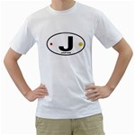 J - Japan Euro Oval White T-Shirt
