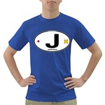 J - Japan Euro Oval Dark T-Shirt